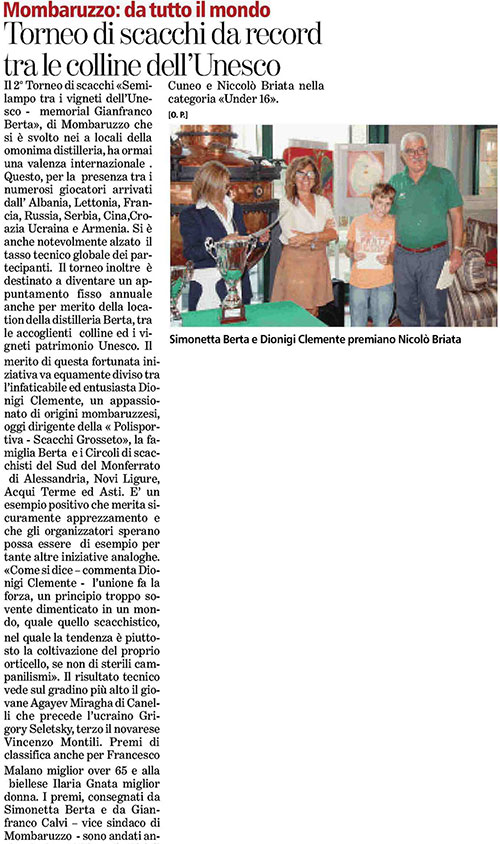 Berta Torneo Scacchi